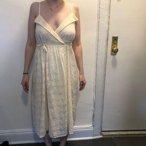 Madewell Cream Floral Pattern Wrap Dress NWT